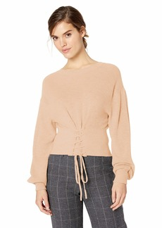 BCBG Max Azria BCBGMAXAZRIA Women's Lace Up Crop Sweater  M