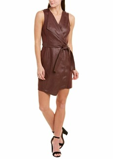 BCBG Max Azria BCBGMAXAZRIA Women's Layla Asymmetrical Pleather Dress  XS (US )