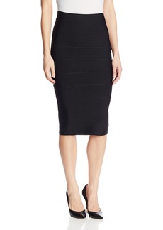 BCBG Max Azria BCBGMAXAZRIA Women's Leger Bandage Mid Length Pencil Skirt