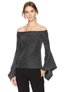 BCBG Max Azria BCBGMAXAZRIA Women's Liane Knit Off-Shoulder Top  XS