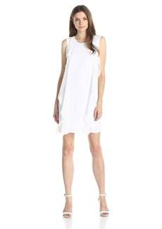 BCBGMAXAZRIA Women's Lilie Sleeveless Cascade Ruffle Dress
