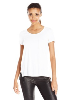 BCBG Max Azria BCBGMAXAZRIA Women's Lisa Pocket Front Scoop Tee