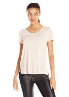 BCBGMAXAZRIA Women's Lisa Pocket-Front Scoop Tee Shirt