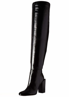BCBG Max Azria BCBGMAXAZRIA Women's Liviana Over the Knee Boot Boot black leather