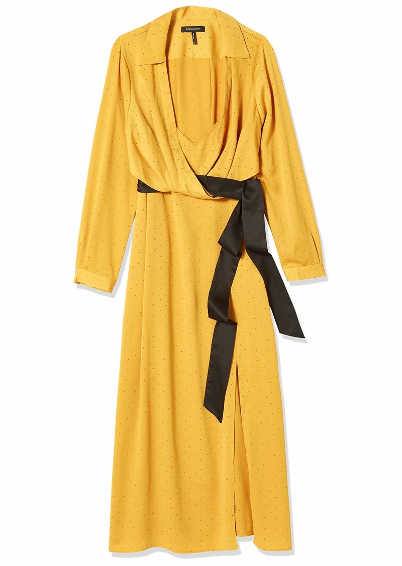 BCBG Max Azria BCBGMAXAZRIA Women's Long Sleeve Midi Dress  XL (US )