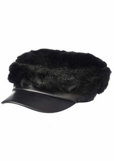 BCBG Max Azria BCBGMAXAZRIA Women's Luxe Faux Fur Military Cap