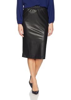 BCBG Max Azria BCBGMAXAZRIA Women's Lyric Knit Faux Leather Pencil Skirt  XS
