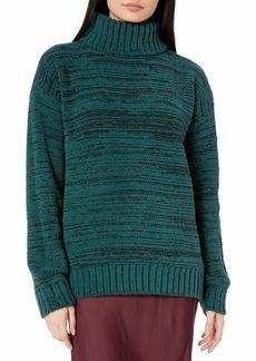 BCBG Max Azria BCBGMAXAZRIA Women's Marled Turtleneck Sweater  L