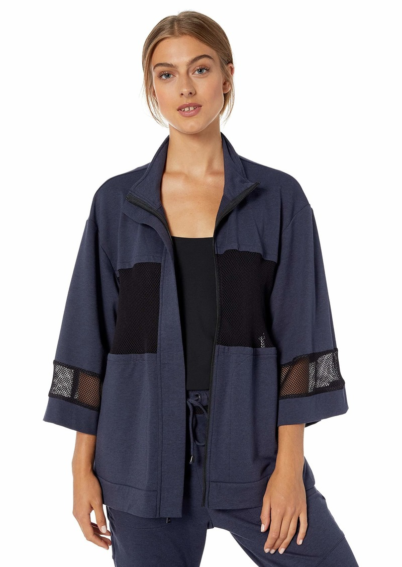 BCBG Max Azria BCBGMAXAZRIA Women's Mesh High-Low Jacket  XL