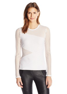 BCBGMAXAZRIA Women's Mindy Knit Sptswr Top  M