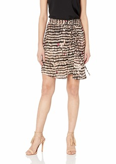 BCBG Max Azria BCBGMAXAZRIA Women's Mini Skirt Sandy Dots-Black Medium L
