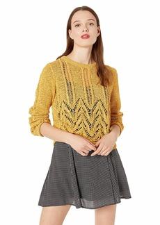 BCBG Max Azria BCBGMAXAZRIA Women's Mixed Stitch Pullover Sweater