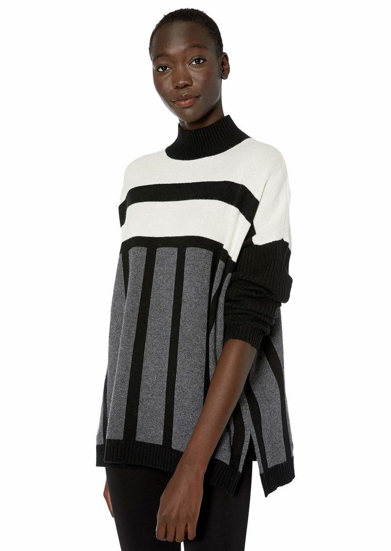 BCBG Max Azria BCBGMAXAZRIA Women's Mock Neck Tunic Sweater  M