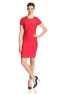 BCBGMAXAZRIA Women's Myley Pointelle Dress