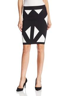 BCBG Max Azria BCBGMAXAZRIA Women's Natalee Geometric Jacquard Pencil Skirt