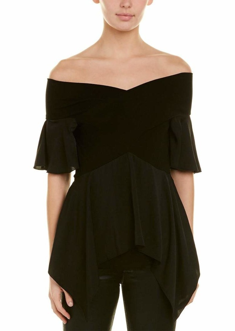 BCBG Max Azria BCBGMAXAZRIA Women's Off The Shoulder Peplum Top
