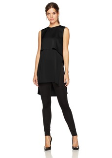 BCBG Max Azria BCBGMAXAZRIA Women's Oliver Woven Layered Top with Flyaway Back  XS