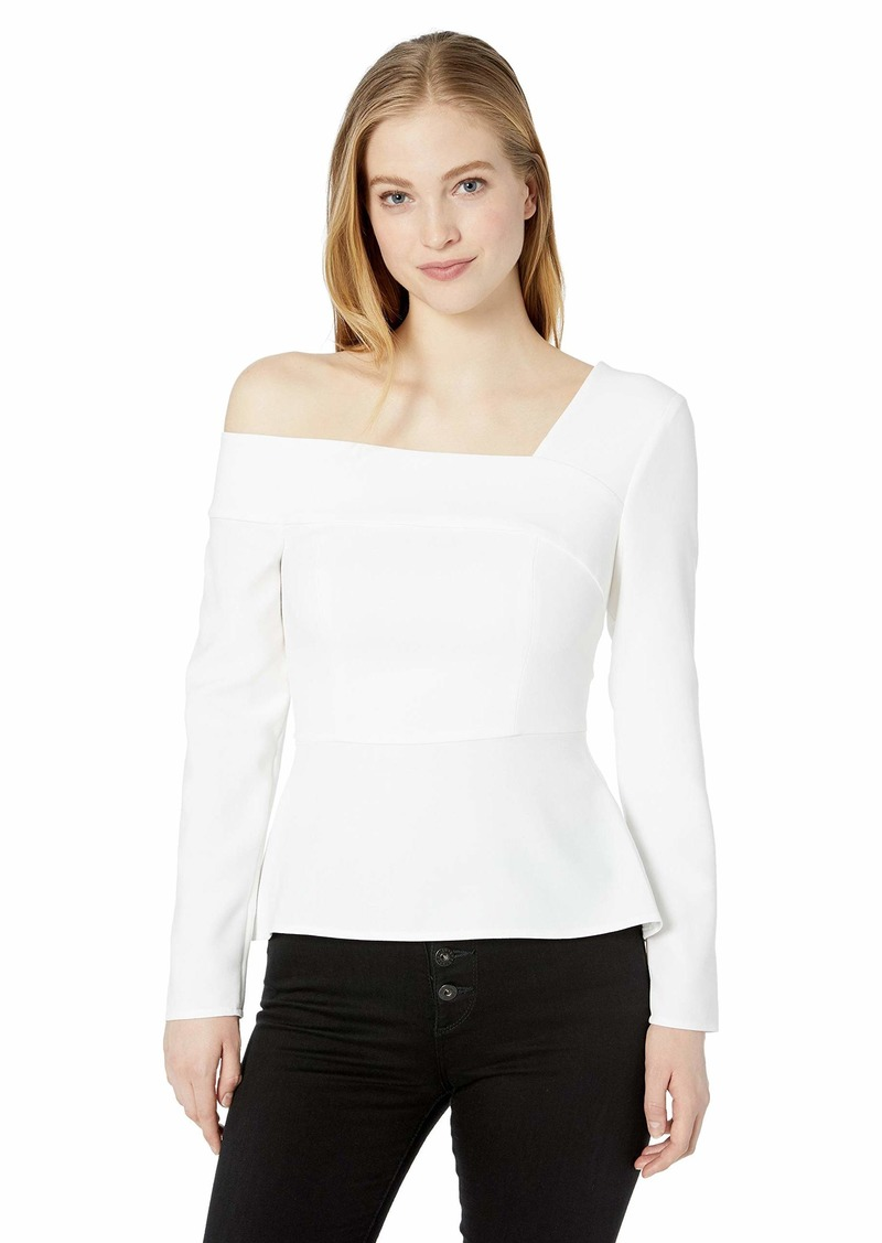 BCBG Max Azria BCBGMAXAZRIA Women's One Shoulder Peplum Top