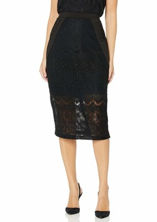 BCBG Max Azria BCBGMAXAZRIA Women's Ornate Floral Lace Pencil Skirt  L