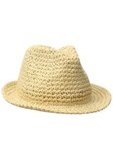 BCBG Max Azria BCBGMAXAZRIA Women's Paper Crochet Fedora Hat