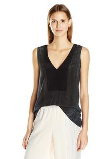BCBG Max Azria BCBGMAXAZRIA Women's Paris Print Block Sleeveless Top