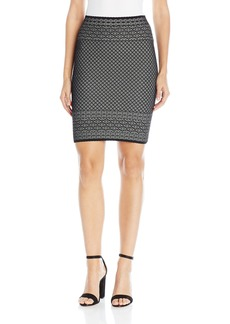 BCBGMAXAZRIA Women's Pavel Lace Relief Jacquard Skirt