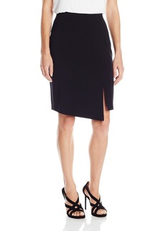 BCBGMAXAZRIA Women's Pencil Skirt with Overlay