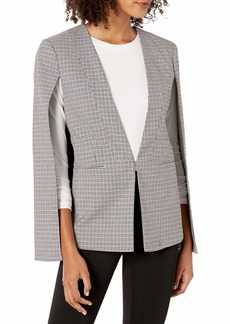 BCBG Max Azria BCBGMAXAZRIA Women's Plaid Cape Jacket  S