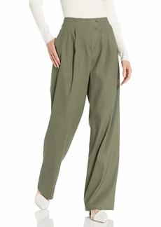 BCBG Max Azria BCBGMAXAZRIA Women's Pleated Asymmetric Front Pant  XS