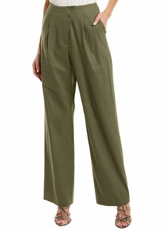 BCBG Max Azria BCBGMAXAZRIA Women's Pleated Asymmetric Front Pant  L