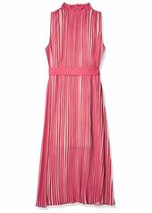 BCBG Max Azria BCBGMAXAZRIA Women's Pleated MIDI Dress IBIS Rose L