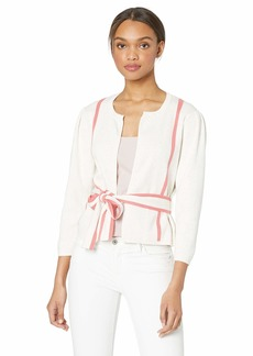 BCBG Max Azria BCBGMAXAZRIA Women's Pleated Shoulder Cardigan Sweater  S