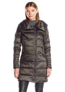 BCBG Max Azria BCBGMAXAZRIA Women's Puffer Coat With Hood With Strom Cuff  L