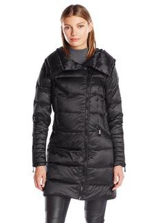 BCBG Max Azria BCBGMAXAZRIA Women's Puffer Coat With Hood With Strom Cuff  S