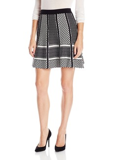 BCBGMAXAZRIA Women's Queeny Jacquard A-Line Skirt