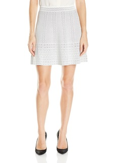 BCBGMAXAZRIA Women's Queeny Lace Relief Sweater Skirt
