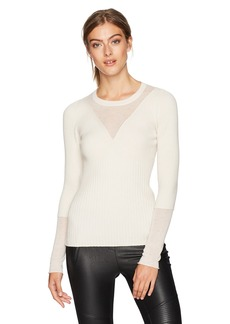 BCBG Max Azria BCBGMAXAZRIA Women's Reeve Knit Layered Sweater  M