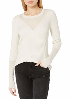 BCBG Max Azria BCBGMAXAZRIA Women's Reeve Knit Layered Sweater  M