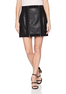 BCBG Max Azria BCBGMAXAZRIA Women's Roxy Faux-Leather Mini Skirt  M