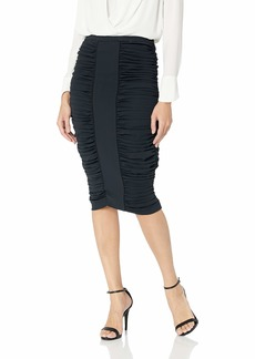 BCBG Max Azria BCBGMAXAZRIA Women's Ruched Pencil Skirt  L