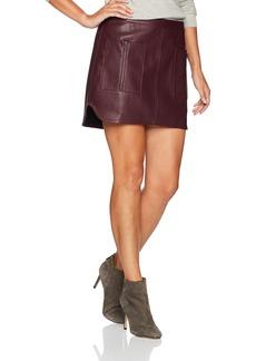 BCBG Max Azria BCBGMAXAZRIA Women's Sabina Knit Faux Leather Skirt  L