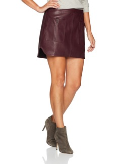 BCBGMAXAZRIA Women's Sabina Knit Faux Leather Skirt  S