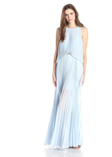 BCBG Max Azria BCBGMAXAZRIA Women's Shaina Sleeveless Pleated Gown