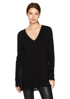 BCBG Max Azria BCBGMAXAZRIA Women's Shona Knit Sweater Dress with Pleated Back  L