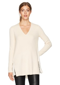 BCBG Max Azria BCBGMAXAZRIA Women's Shona Knit Sweater Dress with Pleated Back  S