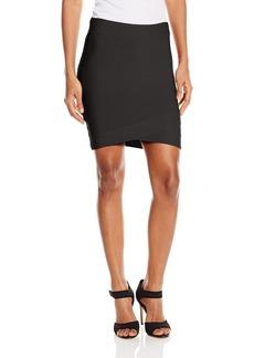 BCBGMAXAZRIA Women's Silvie Criss Cross Skirt