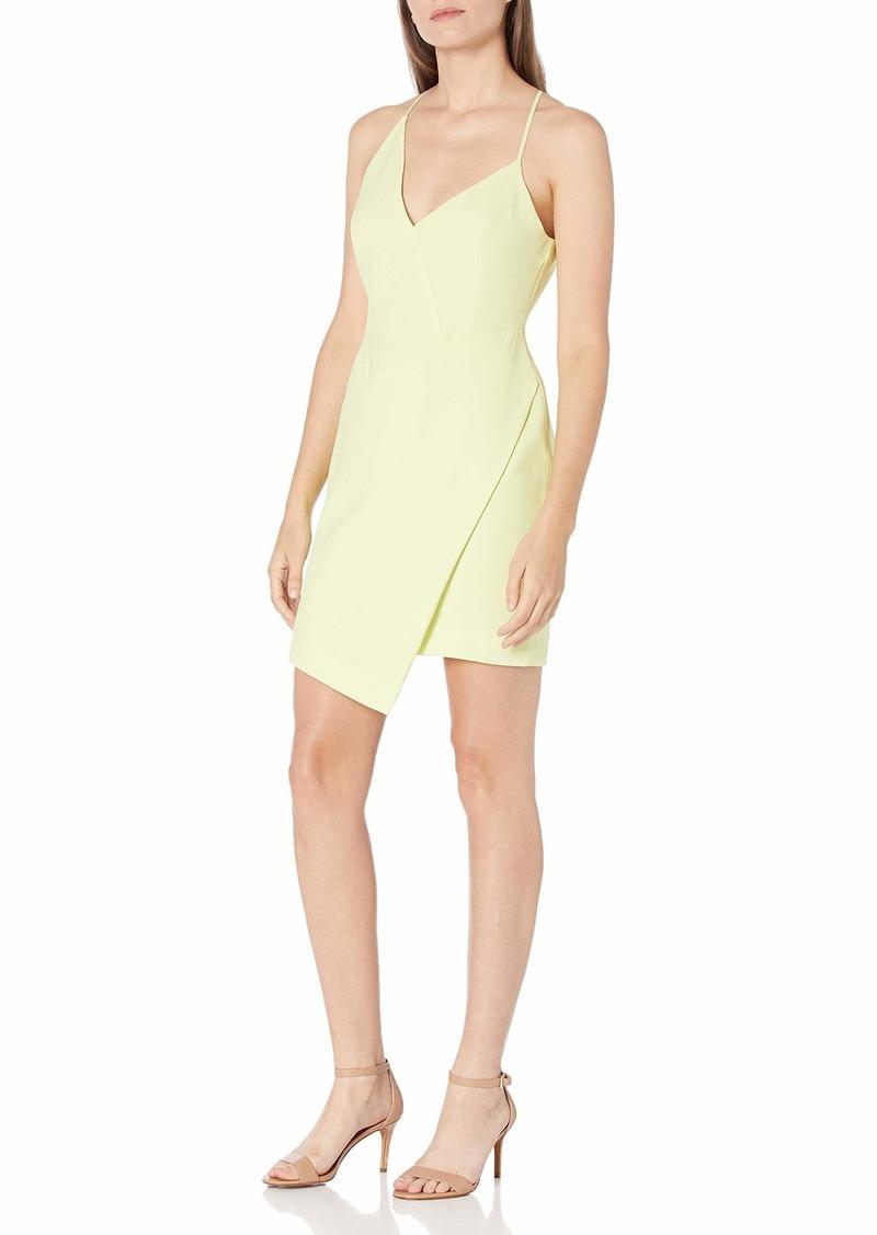 BCBG Max Azria BCBGMAXAZRIA Women's Sleeveless Asymmetrical V-Neck Short Dress