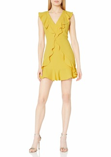 BCBG Max Azria BCBGMAXAZRIA Women's Sleeveless Ruffle Dress
