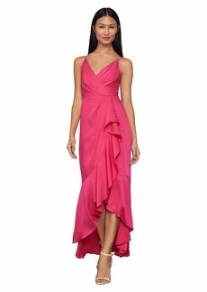 BCBG Max Azria BCBGMAXAZRIA Women's Sleeveless V-Neck High-Low Dress