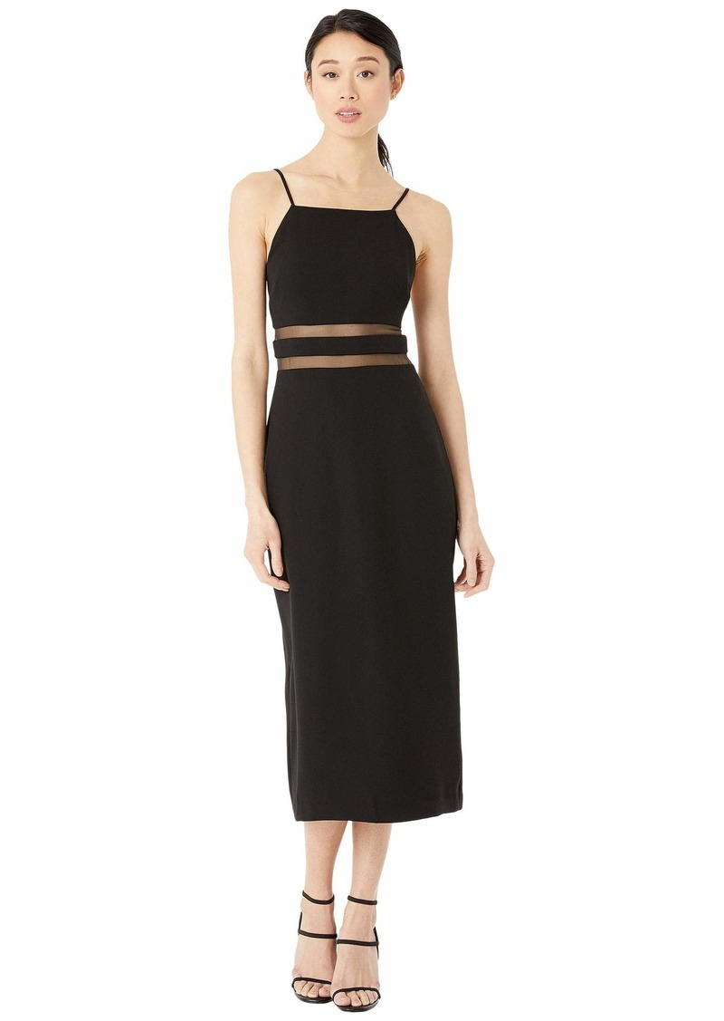 BCBG Max Azria BCBGMAXAZRIA Women's Square Neck Evening MIDI Dress